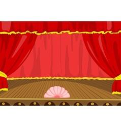 Theater Stage Cartoon vector