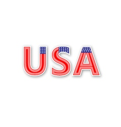 Usa text vector image
