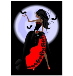 Vampire girl vector