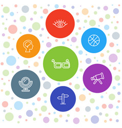 View icons vector