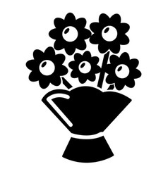 wedding flower bucket icon simple style vector image