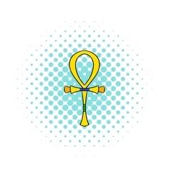 Egyptian Ankh icon comics style vector image