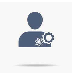 man and cog icon Flat icon One of set web icons vector image vector image