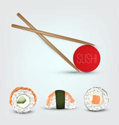 sushi set realistic icon vector image vector image