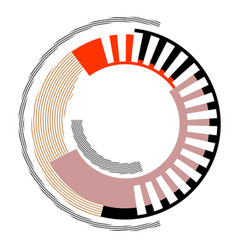 Abstract circle design element vector