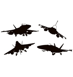Aircrafts vector image vector image