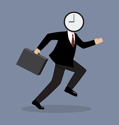 Clock Head Man Running vector image