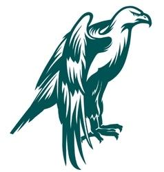 Eagle stylized symbol vector image vector image