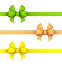 Green daffodil and yellow gift bows vector image