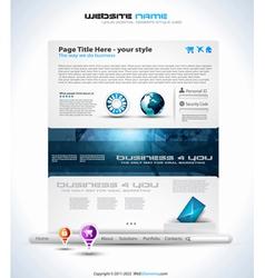 modern website template vector image vector image