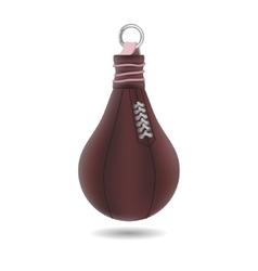 Punching bag isolated on white background vector image