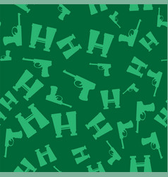 weapon seamless pattern pistols and binoculars vector image vector image