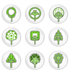 ecology tree icons vector image