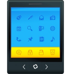interface tablet vector image