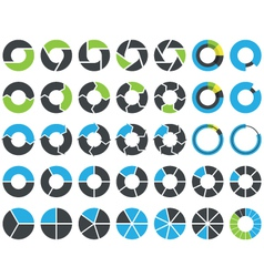 Pie charts and circular graph infographic kit vector image