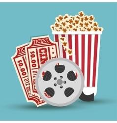 set cinema movie icon design vector image