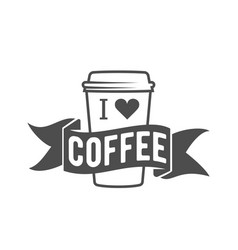 vintage coffee badge logotyp vector image