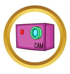 Action video digital camera icon vector image