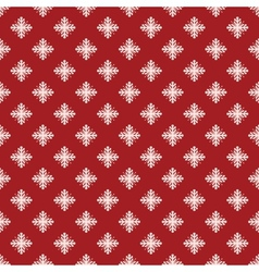 Christmas seamless pattern from snowflakes on blue vector image