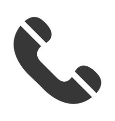 Classic or antique phone line icon vector image