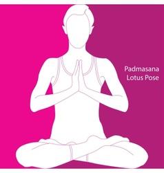 lotus position - padmasana vector image vector image
