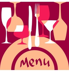 Menu cover background vector image