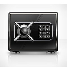 Metal safe isolated on white vector image vector image