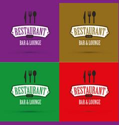 restaurant banners set vector image