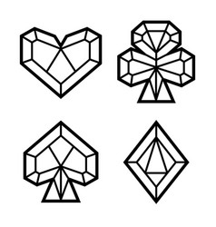 set of icons of playing card suits vector image