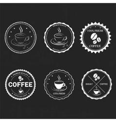 Set vintage retro coffee vector image vector image