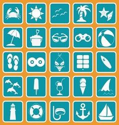 spring break icon set basic style vector image