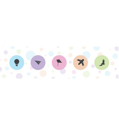 5 freedom icons vector