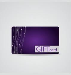 Abstract Beautiful Diamond Gift Card Design vector image