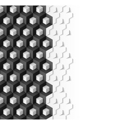 Abstract geometric background with cubes in black vector