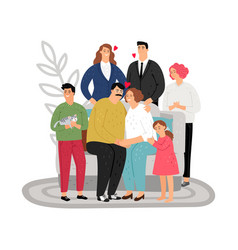 adoptive parents concept vector image