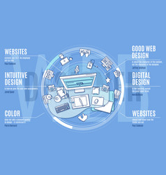 Advertising for web designers with vector