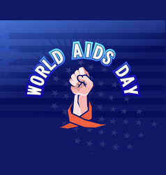 aids fight symbol red ribbon vector image