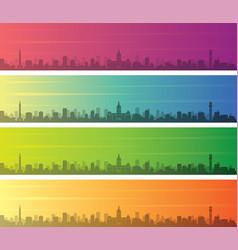 Baltimore multiple color gradient skyline banner vector