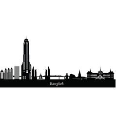 bangkok text vector image
