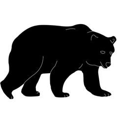 Bear silhouette vector