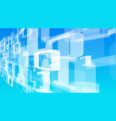 Binary code stream big data digital transformation vector