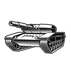 Black and white a tank vector
