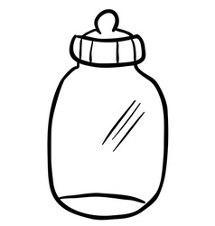 Black and white baby bottle vector