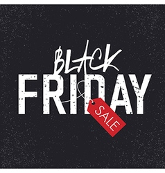 black friday design vector image