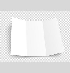 blank booklet mockup object isolated on vector image