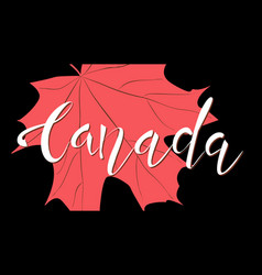 canada day red maple leaves and text vector image
