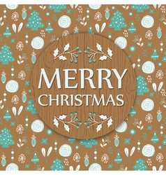 Christmas background with wooden texture vector