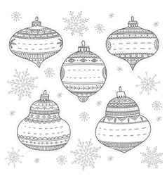 christmas baubles gift tags vector image