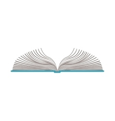color silhouette with open book vector image