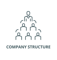 company structure line icon linear concept vector image